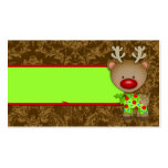 GC Ugly Sweater Party Reindeer Name Card Business Card Template