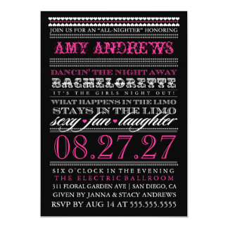 GC Vintage Bachelorette What Happens in the Limo Card