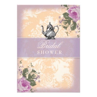 GC Vintage Bridal Shower Tea Party Invitations