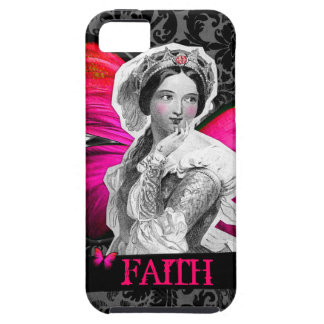 "GC Vintage Butterfly Beauty ""FAITH"" Damask iPhone SE/5/5s Case"