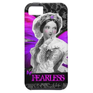 """GC Vintage Butterfly Beauty """"FEARLESS"""" Damask iPhone SE/5/5s Case"""