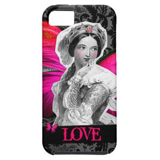 """GC Vintage Butterfly Beauty """"LOVE"""" Damask iPhone SE/5/5s Case"""
