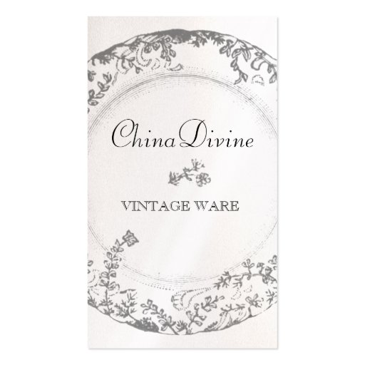 GC Vintage China Divine Silverware 2 Double-Sided Standard Business Cards (Pack Of 100)