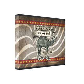 GC Vintage Guess What Day it Is Hump Day Gallery Wrap Canvas