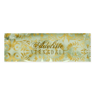 GC | Vintage Melon Gold Hang Tag Double-Sided Mini Business Cards (Pack Of 20)
