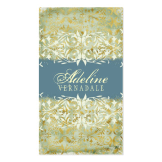 GC Vintage Melon Gold Muddy Blue Double-Sided Standard Business Cards (Pack Of 100)