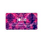 GC |  Vintage Pink Ink Damask Address Label