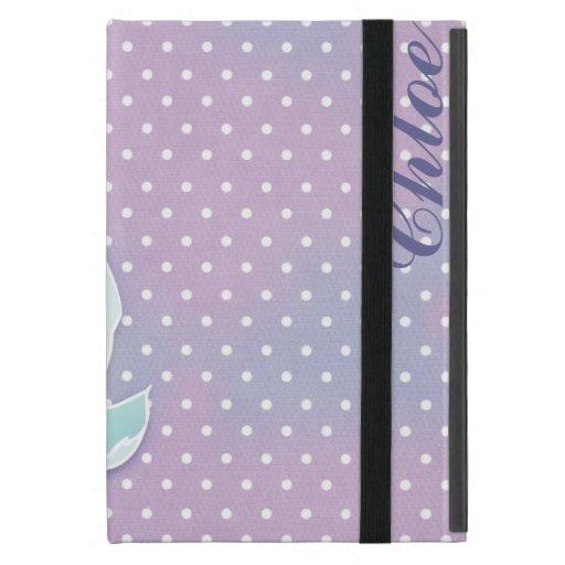 GC Vintage Purple Polka Dot Flower iPad Case