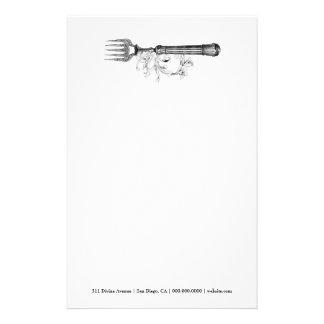 GC VIntage Silver Divine Stationery Design