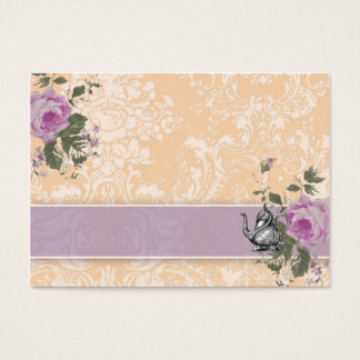 GC Vintage Tea Party Place Card to Fold