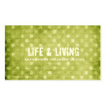 GC | Vintage Textured Green Dots Business Card