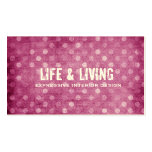 GC | Vintage Textured Pink Dots Business Card Template