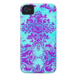GC Vintage Turquoise and Purple Phone Cases iPhone 4 Case-Mate Cases