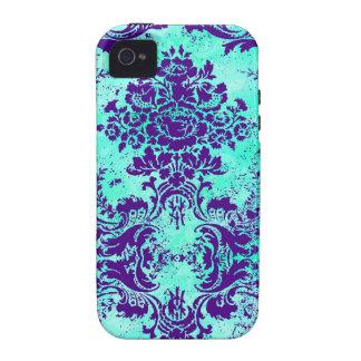 GC Vintage Turquoise Purple iPhone 4 Case