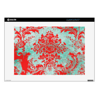 """GC Vintage Turquoise Red Computer Skin Decal For 15"""" Laptop"""