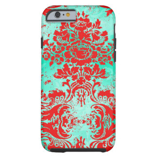 GC Vintage Turquoise Red Phone Case Tough iPhone 6 Case