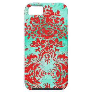 GC Vintage Turquoise Red Phone Case iPhone 5 Cases
