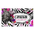 GC | Vintage Zebra Charm Double-Sided Standard Business Cards (Pack Of 100)