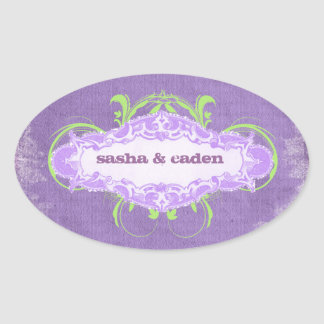 "GC | Vivaciously Violet ""Aged"" Oval Sticker"