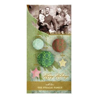 GC | Warm Christmas Vintage Photo Card
