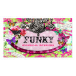 GC | Whimsical Vintage Charm Hot Lime Business Card Template