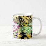 GC | Whimsical Vintage Pink Bee Mug