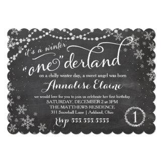 GC Winter ONEderland Birthday Invitation