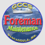 GCCS-maint.foreman2 Round Stickers