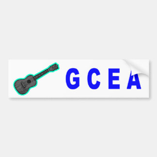 GCEA (Ukulele) Bumper Sticker