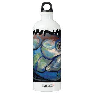 GCG Boca Grande Blue Tarpon Head Aluminum Water Bottle