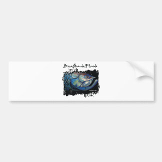 GCG Boca Grande Blue Tarpon Head Car Bumper Sticker