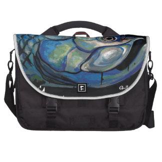 GCG Boca Grande Blue Tarpon Head Laptop Messenger Bag