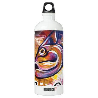 GCG Boca Grande Pink Tarpon Head Aluminum Water Bottle