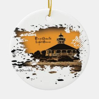GCG Boca Lighthouse Ceramic Ornament
