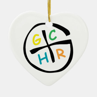 GCHR-Color Adorno Navideño De Cerámica En Forma De Corazón