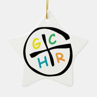 GCHR-Color Adorno Navideño De Cerámica En Forma De Estrella