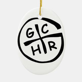 GCHR-Mono Adorno Navideño Ovalado De Cerámica