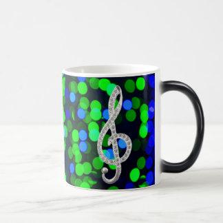 Gclef de la música taza de café