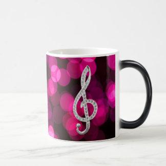 Gclef de la música tazas de café