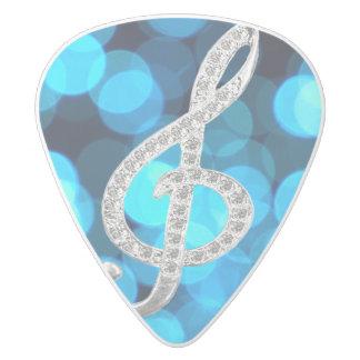 gclef white delrin guitar pick