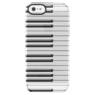 gclef y piano funda clear para iPhone SE/5/5s