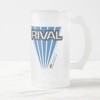 GCT Rival Blue Frosted Glass Beer Mug