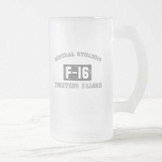 GD F-16 Facon Frosted Glass Beer Mug