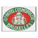 Gd Hotel Cosmopolite Bruxelles, Vintage Greeting Cards