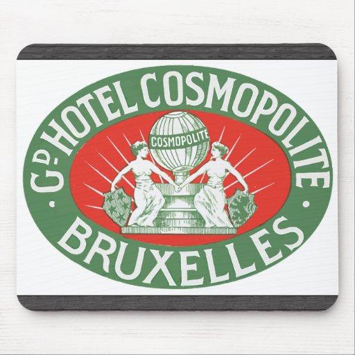 Gd Hotel Cosmopolite Bruxelles, Vintage Mouse Pad