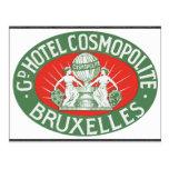 Gd Hotel Cosmopolite Bruxelles, Vintage Postcards