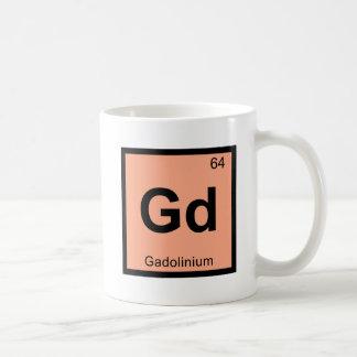 Gd - símbolo de la tabla periódica de la química taza básica blanca