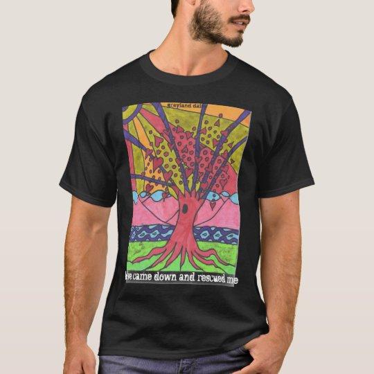 GDaisy Tree of Love Men's Black T T-Shirt