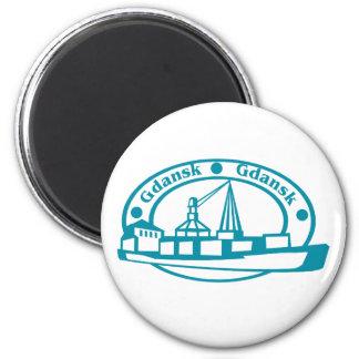 Gdansk 2 Inch Round Magnet