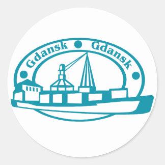 Gdansk Classic Round Sticker